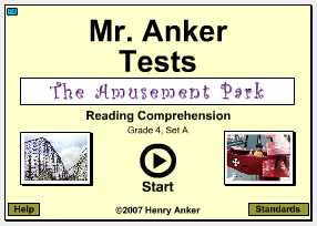 Mr Anker Tests 4th Grade Activities