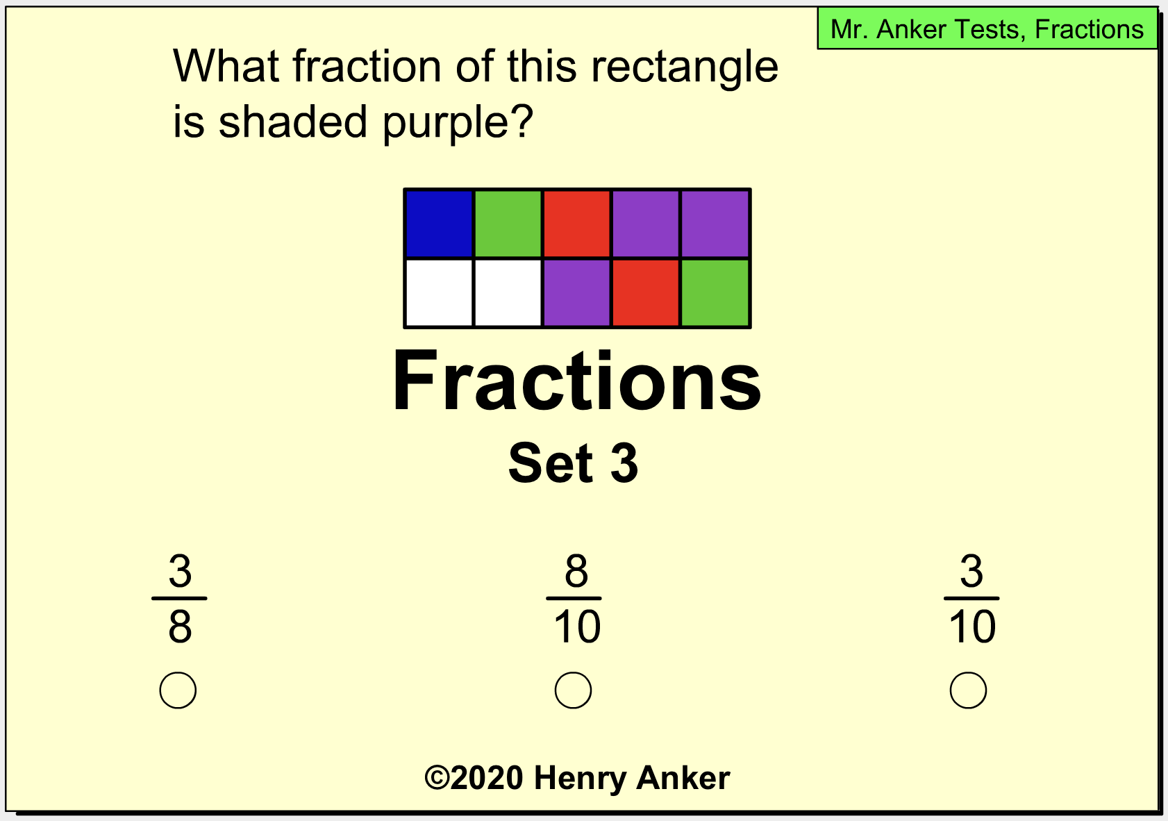 Mr Anker Tests Fractions Activities